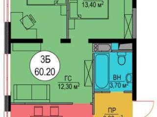 Продажа квартир: 3-комнатная квартира, Москва, ул. Народного Ополчения, 11, фото 1