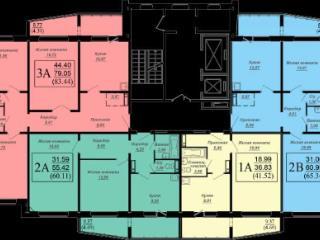 Продажа квартир: 1-комнатная квартира в новостройке, Новосибирск, ул. Гребенщикова, 1, фото 1