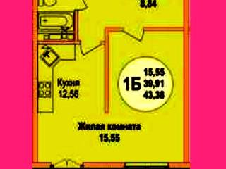 Продажа квартир: 1-комнатная квартира в новостройке, Краснодар, Агрономическая ул., 2, фото 1