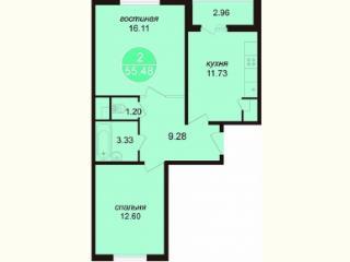Продажа квартир: 2-комнатная квартира, Ростов-на-Дону, пр-кт Маршала Жукова, 21, фото 1