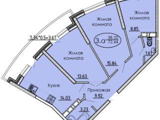 Продажа квартир: 3-комнатная квартира, Краснодар, ул. им Дмитрия Благоева, 31, фото 1