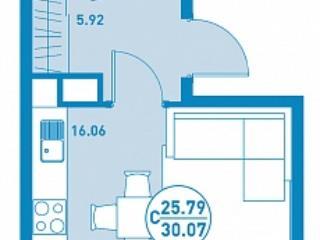 Продажа квартир: 1-комнатная квартира, Тюменская область, Тюмень, Закалужская ул., 1, фото 1