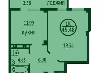 Продажа квартир: 1-комнатная квартира, Астрахань, Балашовская ул., 4, фото 1