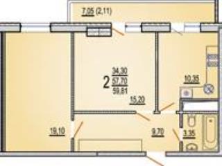 Продажа квартир: 2-комнатная квартира, Краснодар, Кореновская ул., 8, фото 1