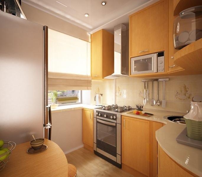 Фото дизайн кухни 6.5 м