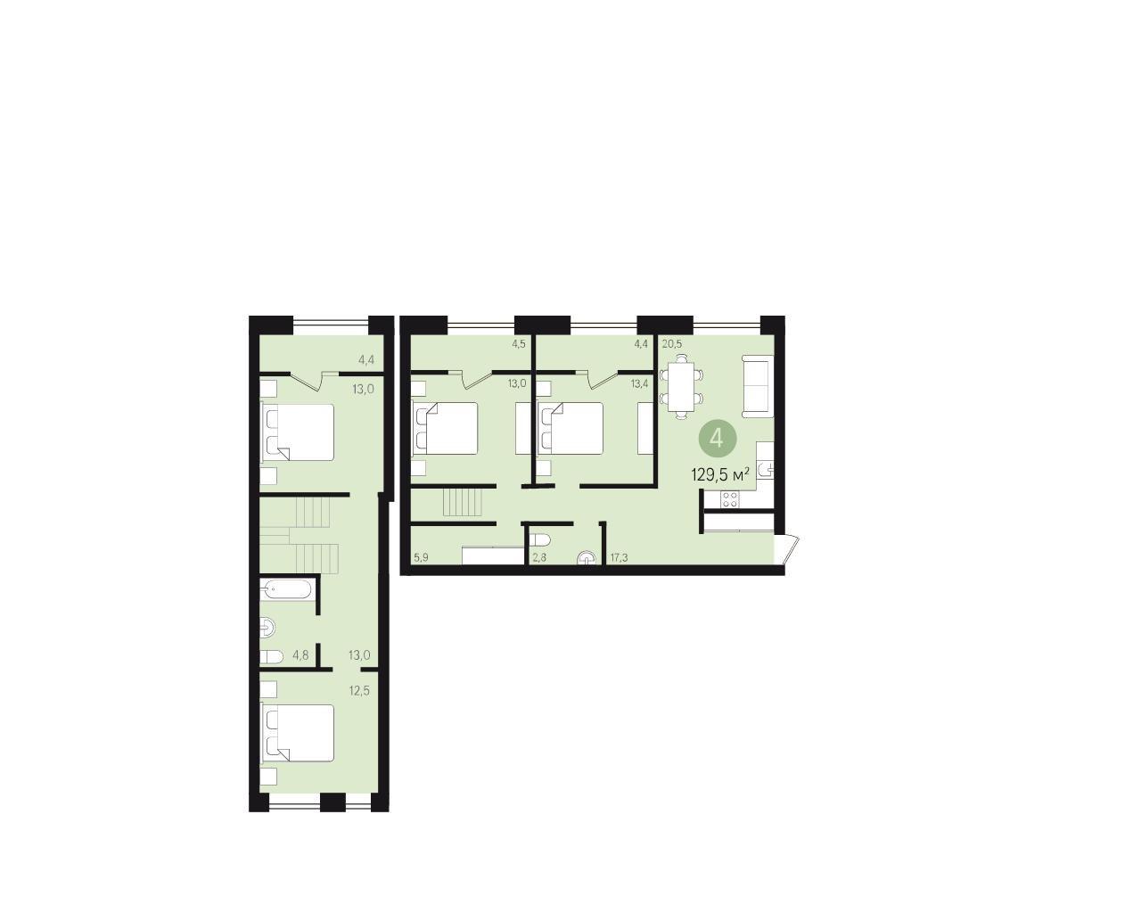 Квартира в новостройке Екатеринбург, ул. Гастелло - 1