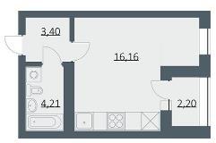 Продажа квартир: 1-комнатная квартира в новостройке, Новосибирск, Большевистская ул., 108, фото 1