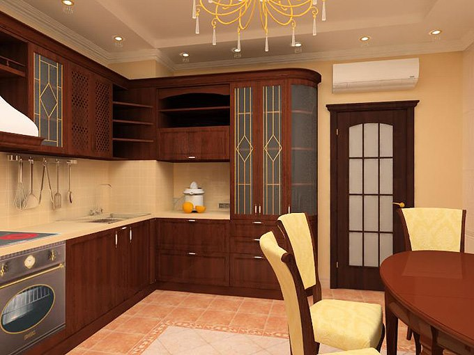 Красивый дизайн кухни в квартире фото